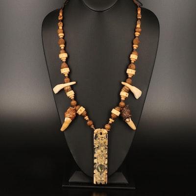 Lenore Szesko Pacific Northwest Coast Style Reversible Totem Amulet Necklace