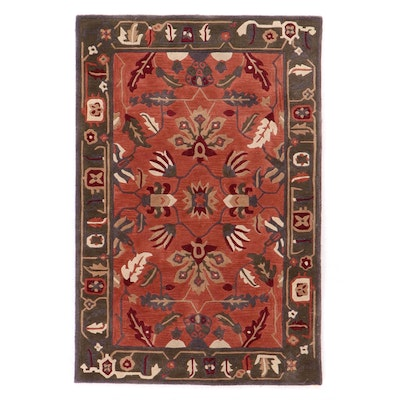 4' x 6' Hand-Tufted Indian Floral Area Rug