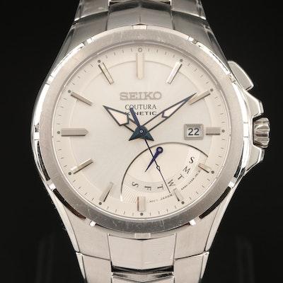 Seiko Coutura Kinetic Retrograde Stainless Steel Wristwatch