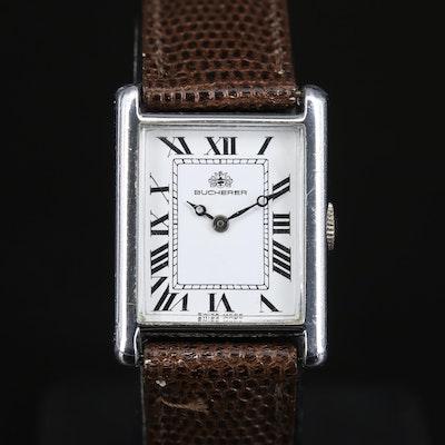 Swiss Bucherer Tank Shape Wristwatch