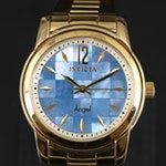 Invicta Angel MOP Dial Gold-Tone Quartz Wristwatch