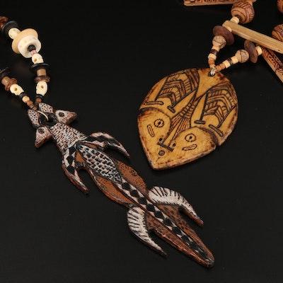 Lenore and Robert Szesko Totem Animal Necklaces