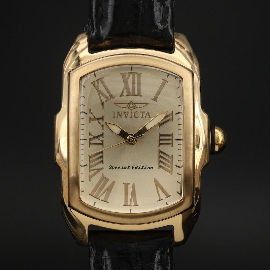 Invicta Lupah Gold Tone Quartz Wristwatch