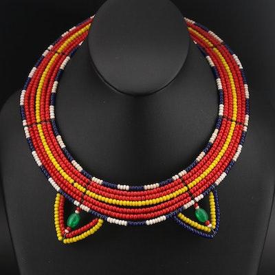 Kenyan Maasai Bead Necklace
