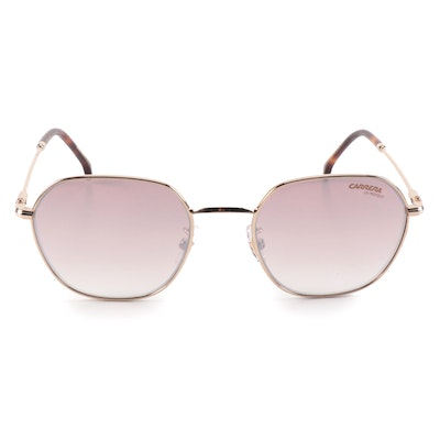 Carrera 180/F/S Gold Havana Pink Tinted Round Sunglasses with Case