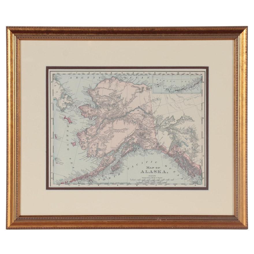 Rand, McNally & Co. Wood Engraving of Alaska, Late 19th Century