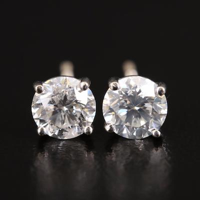 18K 1.41 CTW Diamond Stud Earrings