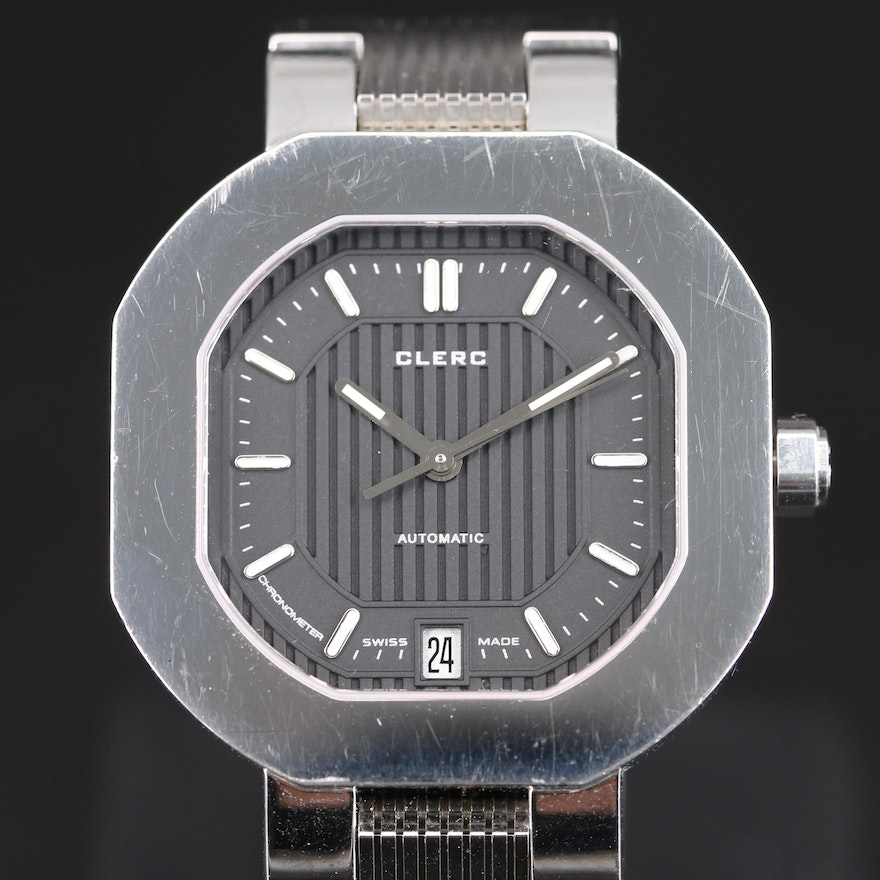 CLERC Automatic 9802 Stainless Steel Wristwatch