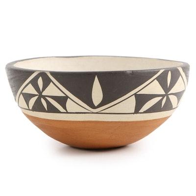 Stella Teller Isleta Polychrome Earthenware Bowl