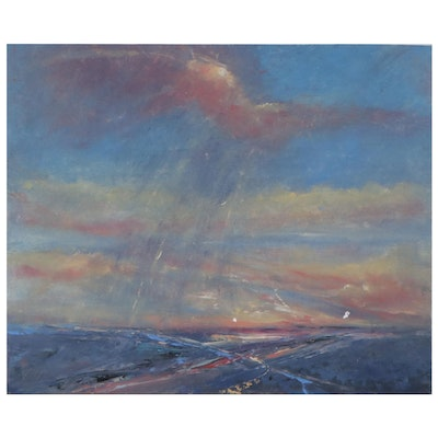 """Rebecca Manns Oil Painting """"The Gift of Rain,"""" 2021"""