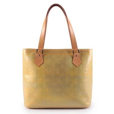 Louis Vuitton Houston Shoulder Bag in Monogram Vernis and Vachetta Leather