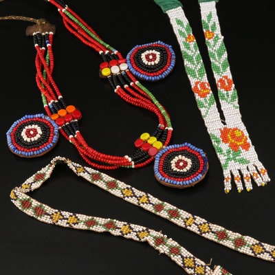 Northern Plains Style Beaded Necklaces