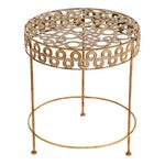 Contemporary Welded Metal Outdoor Side Table