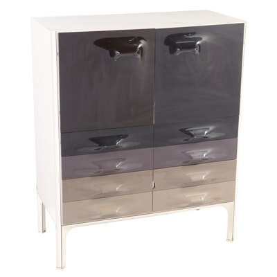 "Raymond Loewy for C.E.I. ""DF2000"" Acrylic, Laminate, & Aluminum Cabinet, c. 1970"