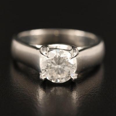 Platinum 1.41 CT Diamond Solitaire Ring