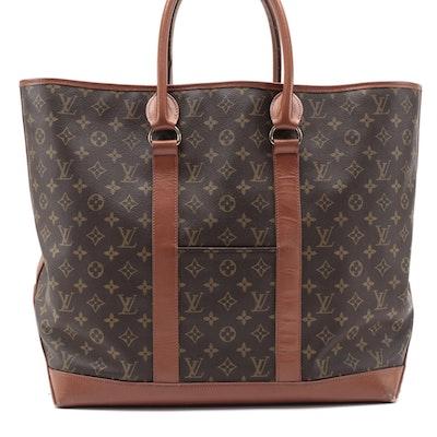 Louis Vuitton Sac Weekend GM Bag in Monogram Canvas