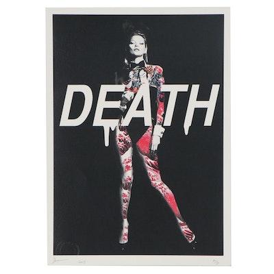 Death NYC Pop Art Offset Lithograph of Kate Moss