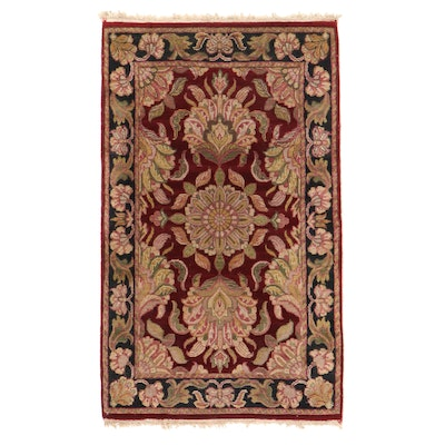 3'2 x 5'4 Hand-Knotted Indian Agra Wool Area Rug