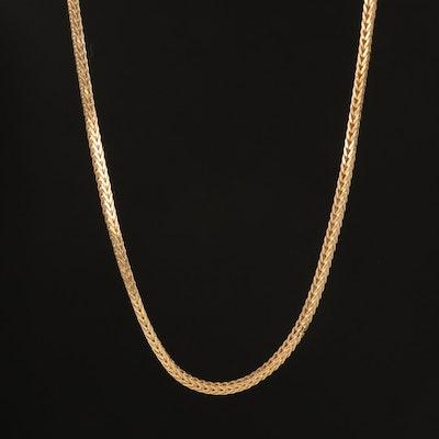 Italian 14K Foxtail Link Necklace
