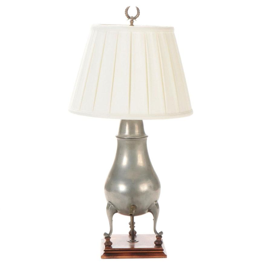 Pewter Hot Water Samovar Table Lamp