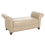 Superb Creations Contemporary Leather Bench