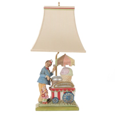 """Melody in Motion Bisque """"In the Good Old Summertime"""" Figural Table Lamp"""