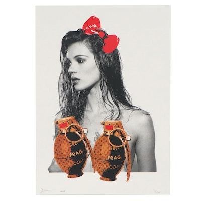 Death NYC Pop Art Graphic Print of Kate Moss
