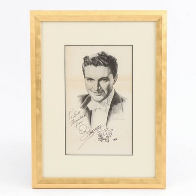 Autographed Liberace Offset Lithograph after H. Schumann of Concert Program
