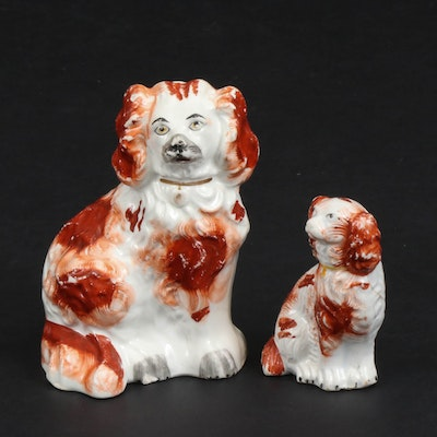 Staffordshire Rust  Spaniels, Early to Mid 20th Century
