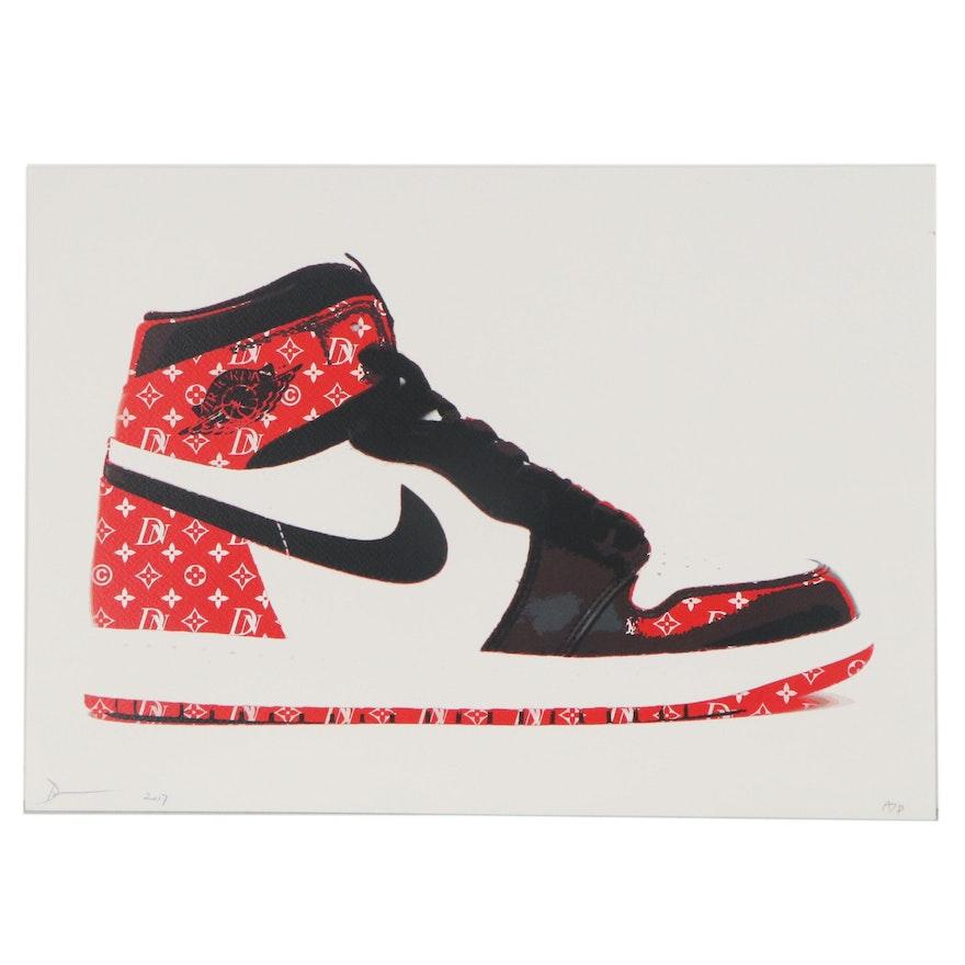 Death NYC Pop Art Offset Lithograph of Nike Air Jordan