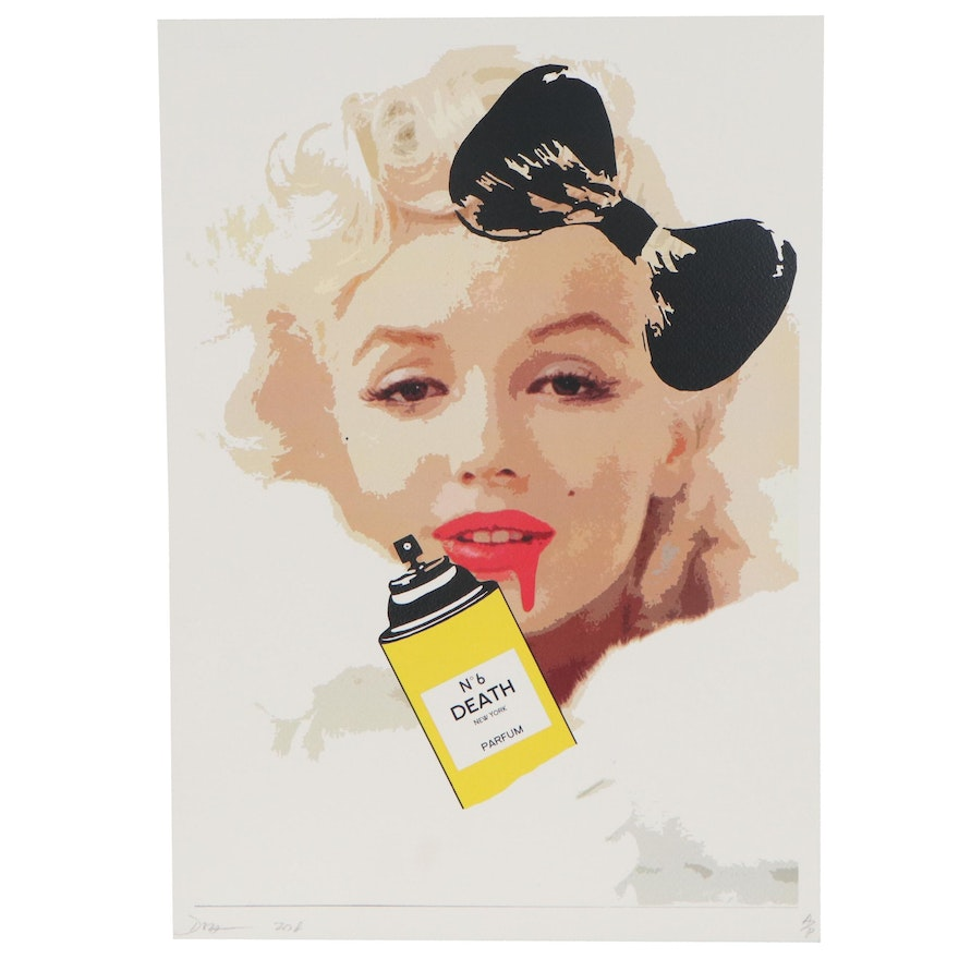 Death NYC Pop Art Offset Lithograph of Marilyn Monroe