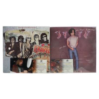 Tom Petty and John Cougar Mellencamp Autographed Vinyl LP Records with COAs