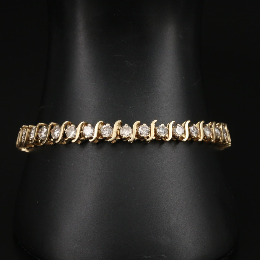 14K 7.00 CTW Diamond S-Link Bracelet