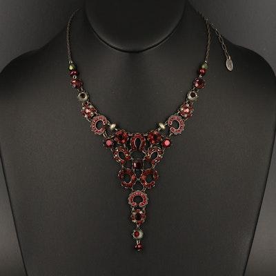 Ayala Bar Faux Pearl and Rhinestone  Necklace