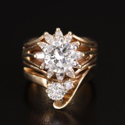 14K 3.70 CTW Diamond Ring