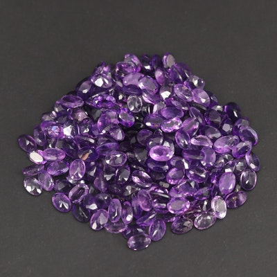 Loose 91.68 CTW Oval Faceted Amethysts