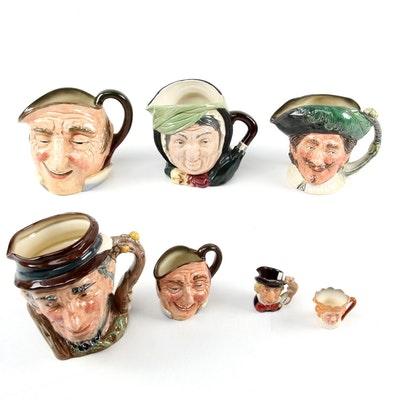 Royal Doulton Farmer John with Coleman's Compliments and Other Character Jugs