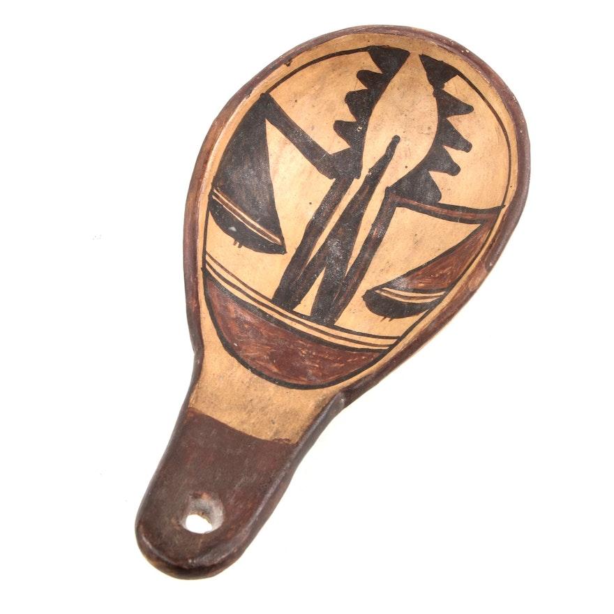 Hopi Polychromed Earthenware Ladle, 1920s