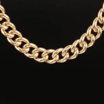 14K Curb Link Necklace
