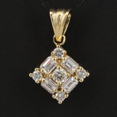 18K 1.23 CTW Diamond Pendant