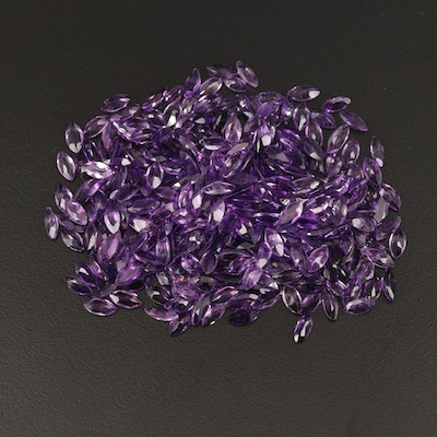 Loose 104.31 CTW Marquise Faceted Amethysts