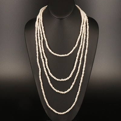 Endless Pearl Rope Length Necklace