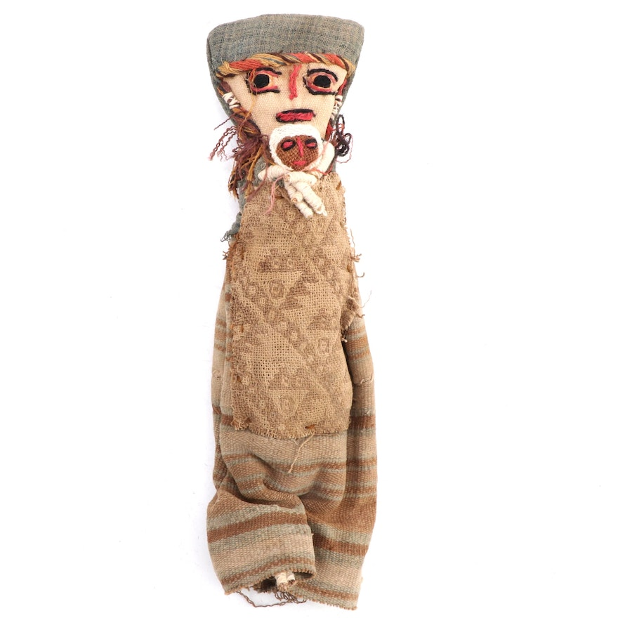Chancay Mother and Child Burial Cloth Doll, Peru