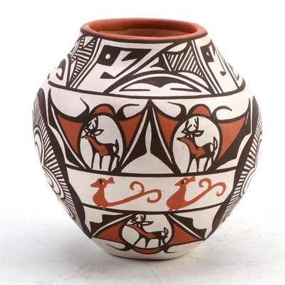 Jennie Laate Zuni Pueblo Polychrome Jar