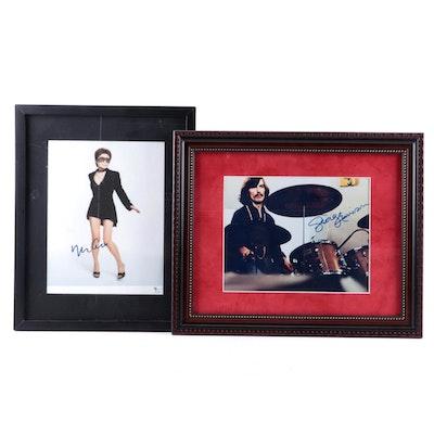 George Harrison and Yoko Ono Signed Framed Photo Prints, COAs