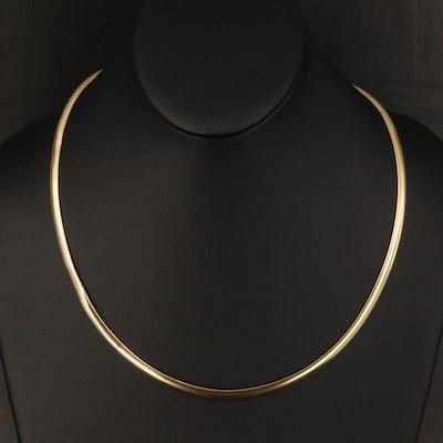 Italian 18K Omega Link Necklace