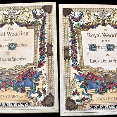 Princess Diana and Prince Charles Royal Wedding Stamps in Stanley Gibbons Albums