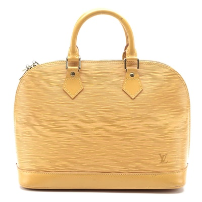 Louis Vuitton Alma PM in Tassil Yellow Epi and Smooth Leather