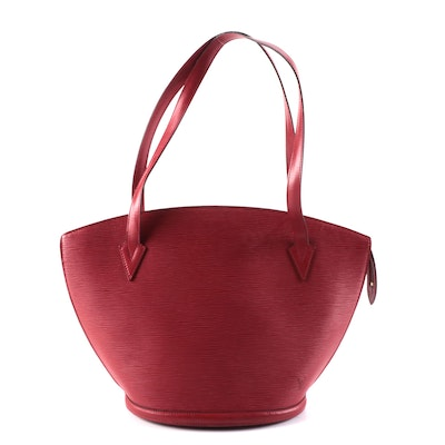 Louis Vuitton Saint Jacques MM in Red Epi and Smooth Leather