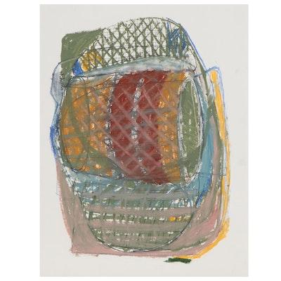 Lawton Orchard Abstract Mixed Media Drawing, 2015